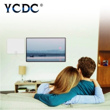YCDC HDTV 1080P Digital TV Antenna 50 Miles Range Indoor TV Antenna with Amplifier Signal Booster High Gain DVB-T HD Television(China)