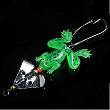 "1pc new Rubber Frog Soft Fishing Lures Bass CrankBait Tackle 9cm/3.54"" 6.5g free shipping FA-281"