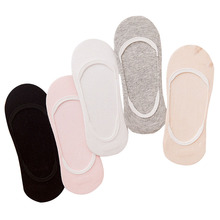 Buy 5pairs Women Invisible Socks Summer Non-slip Silicone Breathable Girls Boat Sock Meias Solid Color Cute Female Cotton Socks Sox for $3.93 in AliExpress store