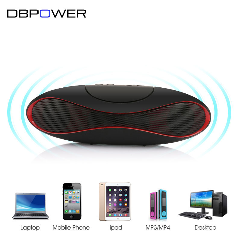 DBPOWER Mini Portable Speaker Wireless Bluetooth Speakers FM with Strong Bass Portable Audio Player Support TF Card(China (Mainland))
