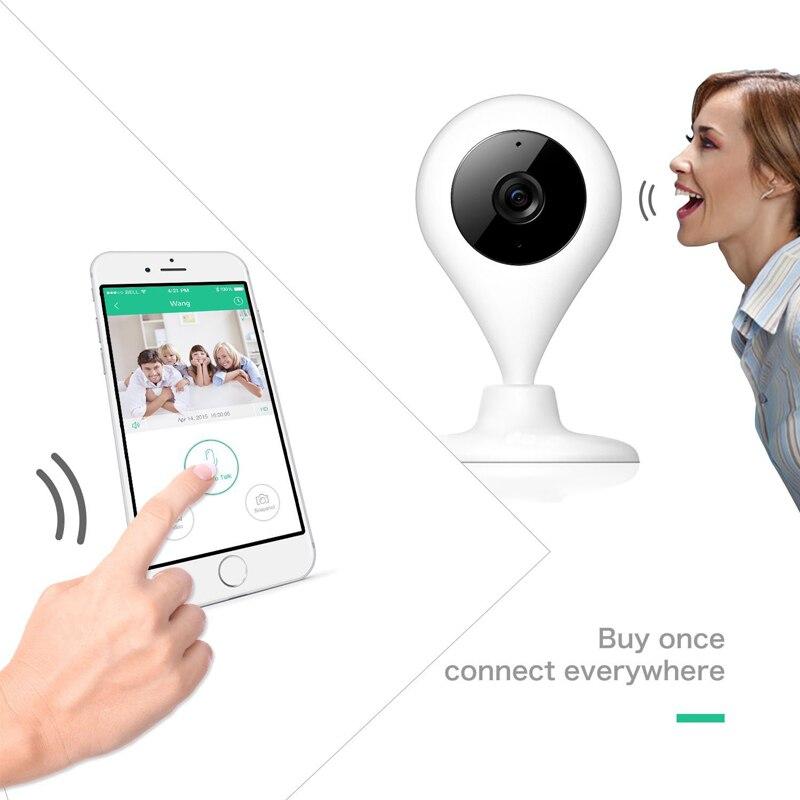 2017 baby camera monitor 720P Surveillance Camera Night vision 2 way talk Real-time video 360 Rotation wifi camera Max 64G<br>