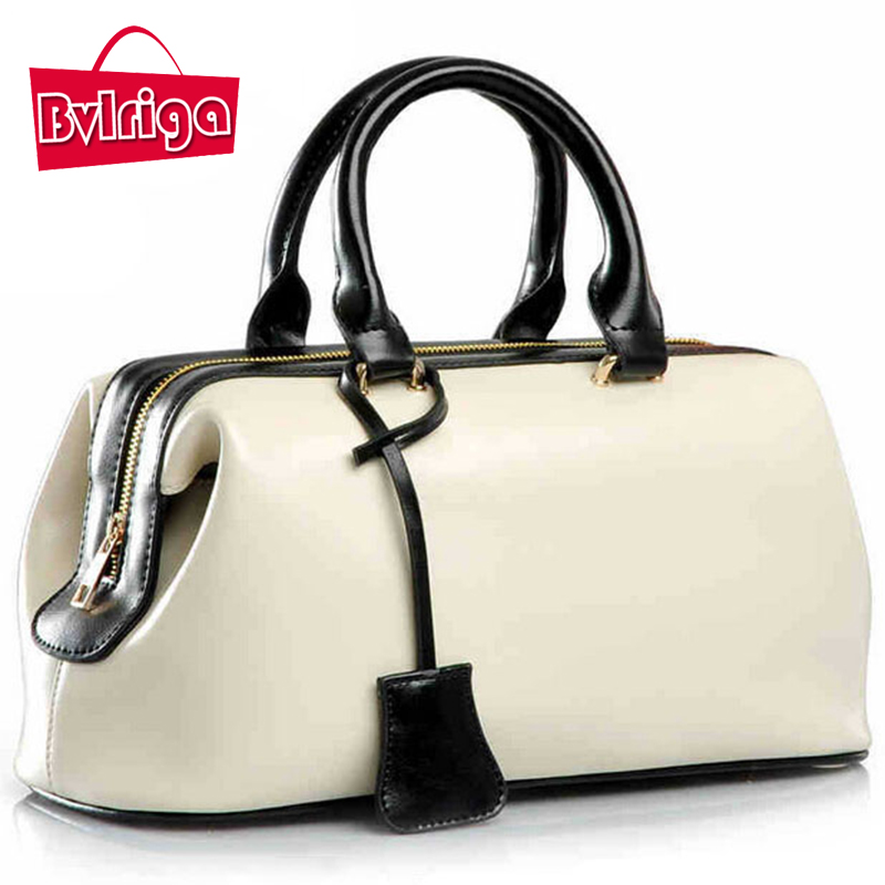BVLRIGA Genuine leather bags ladies real leather bags handbags women famous brands designer handbags high quality women tote bag