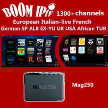 Bravo IPTV subscription Android6.0 Mag250 Smart tv box 1600+Channels Italy- DE SP FR Turkey UK RU ALB USA GR qhdtv neotv a95X
