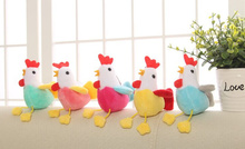24PCS Kawaii MIX Colors- Little Chicken Plush Stuffed TOY , Wedding Plush Toy Bouquet Decor Toy , Small Chicken Sucker Gift TOY