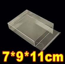 Low MOQ7*9*11cm PVC Transparent Plastic Gift Craft Toys Display Clear Boxes Case