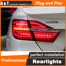 Car Styling LED Tail Lamp for Toyota Camry Taillights 2015 New Camry Rear Light DRL+Turn Signal+Brake+Reverse auto Accessories