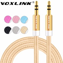 VOXLINK 1m/2m/3m Gold Plated Plug 3.5mm Aux Cable Male to Male Audio Cable Line For Car iPhone MP3/MP4 Headphone Speaker