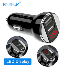 Buy RAXFLY Car Charger USB Dual Port Mobile Phone Charging USB Charger Adapter Car-Charger iPhone Xiaomi Samsung Car Charger for $4.99 in AliExpress store
