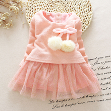 Toddler Girl Autumn Dress Christmas Costumes Baby Girls Princess Dresses 1 Year Birthday Gift Kids Party Wear Dresses For Girls(China)