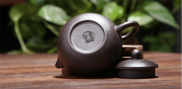 170ML yixing tea pot purple clay xi shi zisha teapot ore beauty chinese kung fu kettle suit puer black tea with gift box 9
