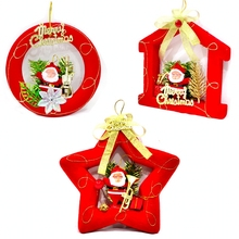 Exquisite Glitter Red Santa Baubles Xmas Tree Hanging Ornament Gift Market School Christmas Decorations Supplies For Home Natal