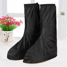 Long-tube Rain-proof rain Shoes cover Sets of Mens Non-slip Waterproof Rainy Day Wear-resistant Outdoor Riding black/transparen(China)