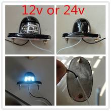 2x  12v 24v 6 LED Number Plate License Light Lamp Trailer Truck Lorry Waterproof Reflector Metal Shell truck trailer lorry van