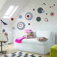% Colorful Circles Dot wall sticker bathroom kitchen Living Room Bedroom Kindergarden pvc wall decals home decor Home Decoration