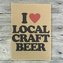 "High quality MZ-026 back to the future kraft paper ""LOCAL CRAFT BEER"" wall art poster pictures home decor for bathroom 42x30cm"