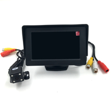 2 in1 TFT 4.3 Inch Auto TFT LCD Rearview Parking Color Monitor + 4 LED Night Vision Rear View Camera(China)