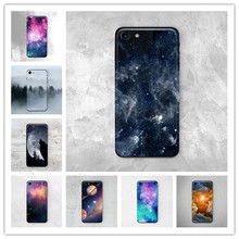 The hottest and most popular Starry sky Green Silicone Soft Anti falling mobile phone shell for iPhone 4S 5S SE 5C 6 6S 7 Plus(China)