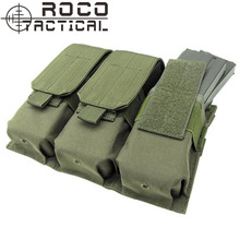 ROCOTACTICAL Military Molle Tactical Triple Magazine Pouch for M4/M16 Rifle Pistol Mag Pouch Army Green/TAN/Black/CP Multicam