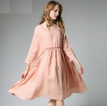 Buy 4XLwomen autumn dresses 2017 Women Full sleeve Sexy Dress Cotton Linen Long Maxi Dresses Casual Loose Solid Vestidos Plus size for $35.82 in AliExpress store