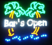 2017 Led BEER BAR Shop Open Signs Top Fasion Real Graphics Neon Sign 19x19 Inch