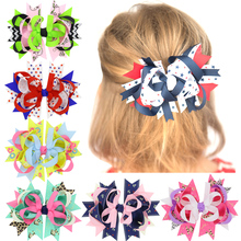 1PCS Cartoon Monkey Sheep Anchor Handmade Creative Design Hair Bow Best Party Dress Up Hairpin for Kids Girl Clip DIY Headwear(China)