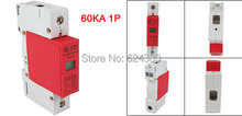 1P 1 Pole House Power Security Surge Protector Protection Lightning Arrester Device 60KA 420V AC Discount PCS-B60(China)