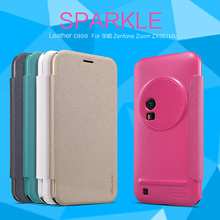 Nillkin sparkle Flip PU+PC Leather hard plastic back cover case asus zenfone zoom zx551ml/zx551ml phone cases retail package - NILLKIN Factory Store store