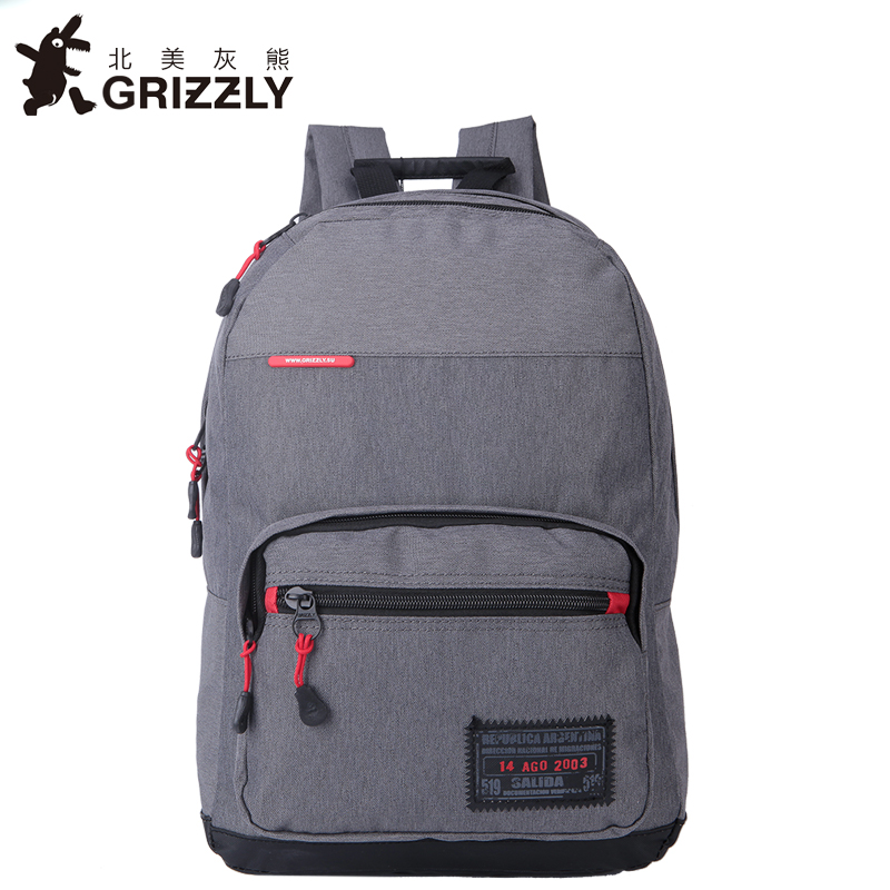 GRIZZLY Men Canvas Backpack Rucksacks Casual Mochila Multifunction Big Capacity High SchoolBags for Teenagers Boys Travel Bags<br>