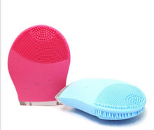 Makeup Deep Pores Cleaning Electric Waterpoof Silicone Sonic Vibration Facial Wash Brush Cleaner Cleanser Beauty Massager
