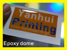 Adhesive epoxy dome sticker label printing custom