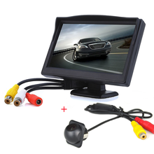 Portable HD 5 inch Display Screen Car Rear View Camera with Monitor with Reserving Digital LCD TFT  for Volkswagen Ford Peugeot