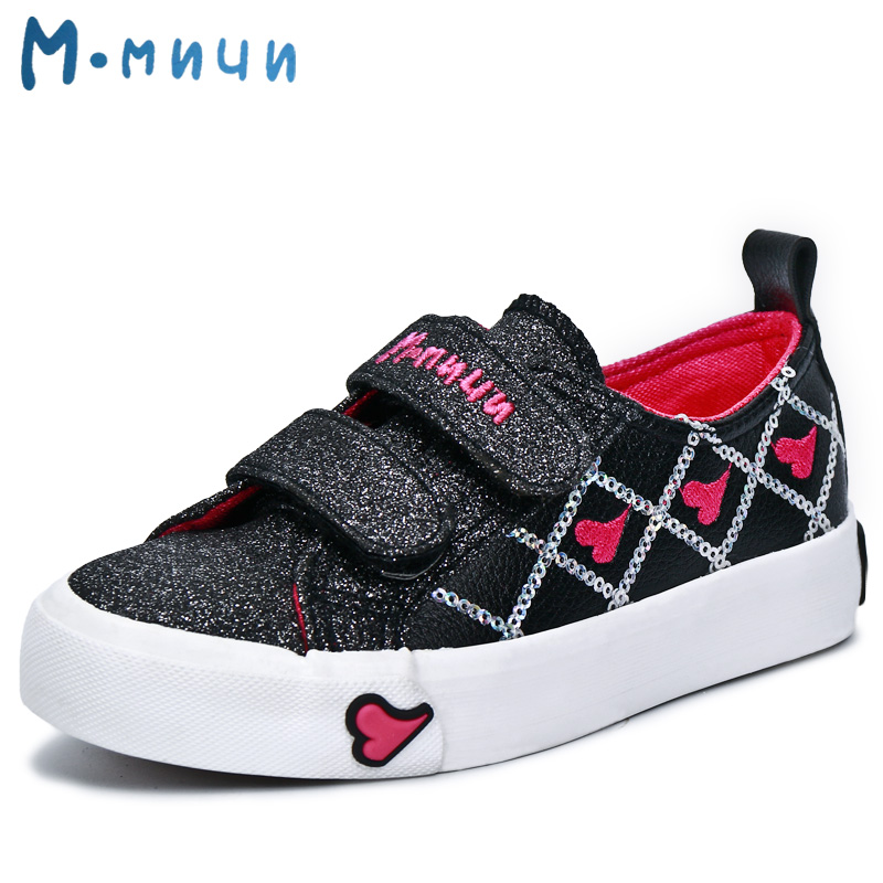 MMNUN 2017 New Spring Glitter Girls Shoes Breathable Pu Leather Kids Shoes for Little Girl Cute Children Sneakers Children Shoes<br>