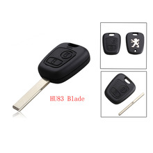 2 Buttons Remote Key Shell For Peugeot 307 Blanks Car Key Case Cover (With Groove)