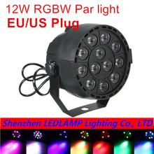 2017 Best Selling Portable Mini AC 90 - 240V 12W Stage Par Lamp 8CH 12 LEDs RGB RGBW Color Mixing Stage Lighting Effect Light