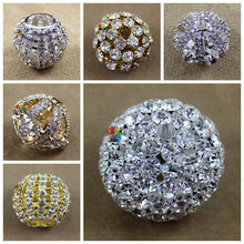 10pcs 30mm 40mm 50mm Gold Silver Shiny Clear Crystal Cane Toppers Rhinestone Balls DIY Browband Wedding Party Prom decoration