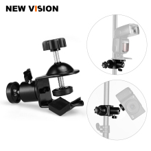 Free Shipping Photo Studio U Clip Clamp with Ball Head Bracket for Camera Flash Light Stand