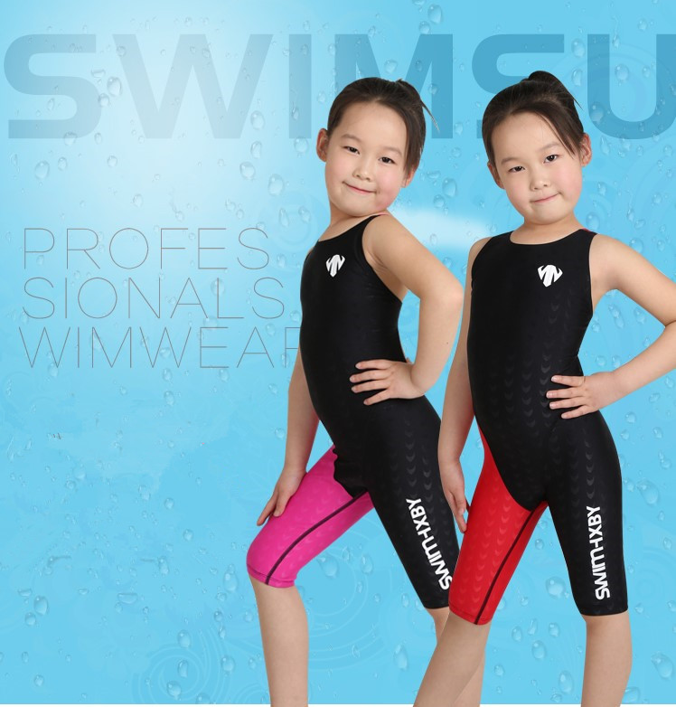 Children Sport Swimwear Girls One-piece Compettition Racing Swimsuit Kids Professional BeachWear New High Quanlity Bathing Suit<br>