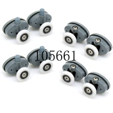 8 x Butterfly Single Shower Door Rollers/Runners/Wheels/Pulleys 23mm /25mmwheel