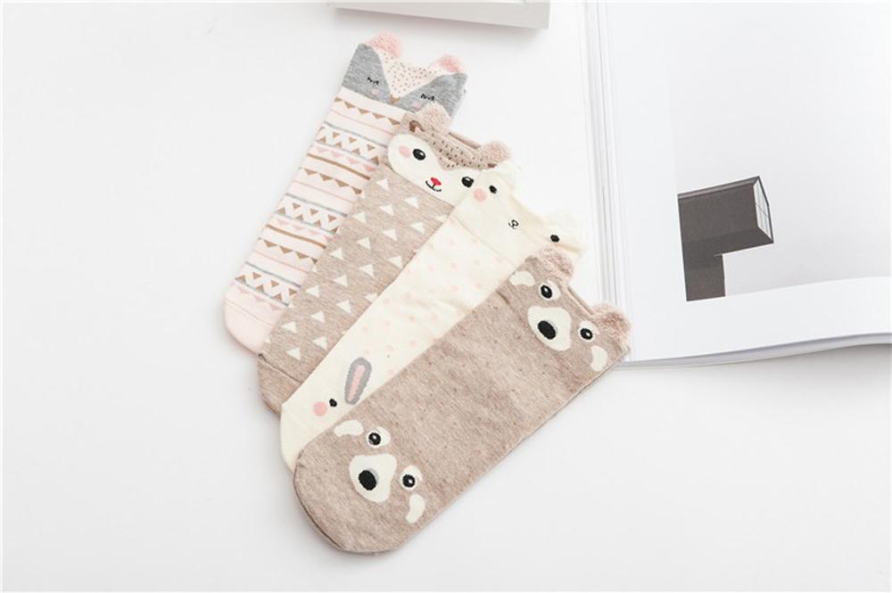 17 New Lovely Cartoon Women Socks High Quality Cotton Sox Japanese Fashion Style Socks Autumn Winter Warm Socks For lady Girls 6