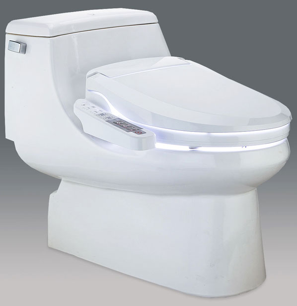 BLOOMING BIDET ROUND 1163 Side Panel Control Electronic Toilet Seat LED Lite New (1)