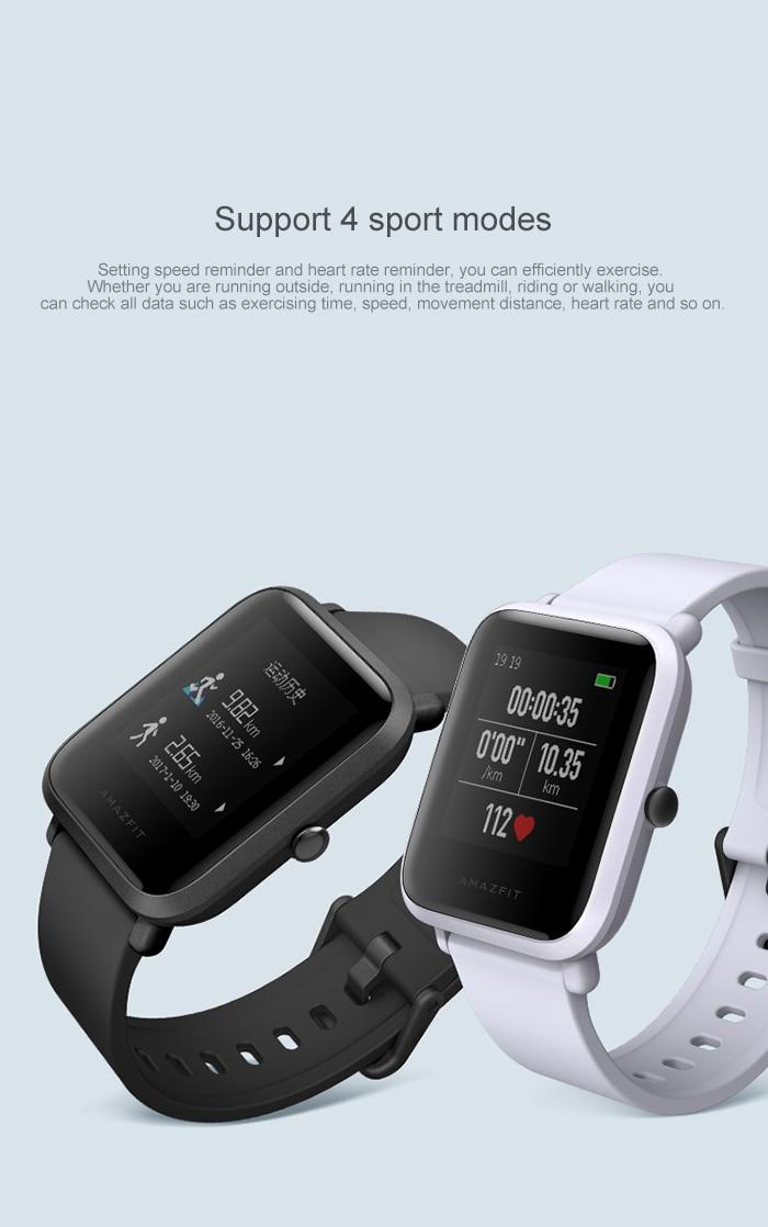 Xiaomi Amazfit Smart Watch Youth Edition Bip BIT PACE Lite 32g ultra-light Screen 1.28″ Baro IP68 Waterproof GPS Compass 2017