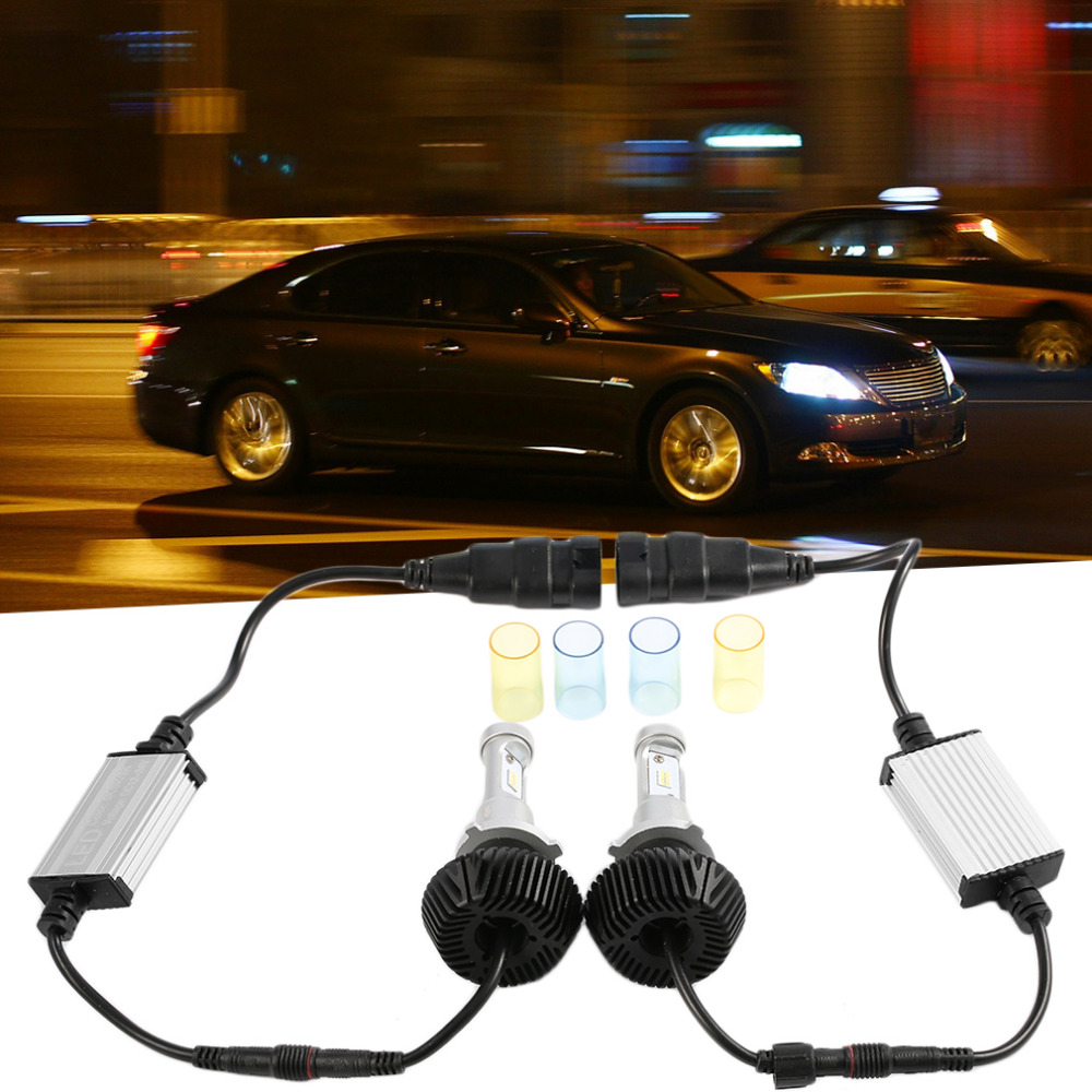 newest 1set High Power 80W White Car Auto LED Head Light Lamp Bulbs 6000K 6600LM COB LED Headlights 9006 12000LM 6000K 80W<br>