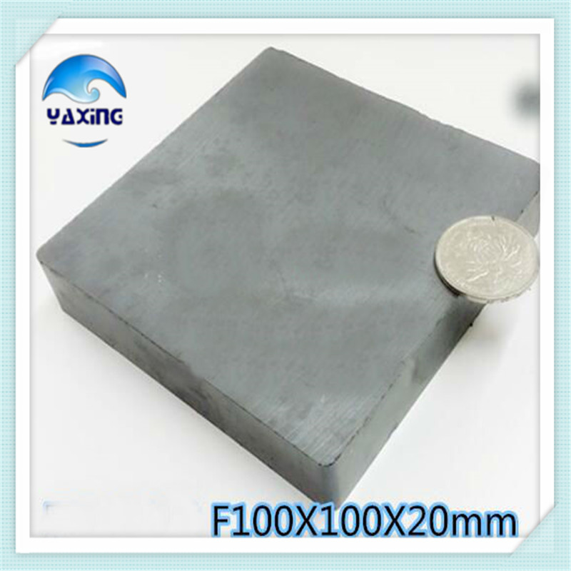 1PCS Blk100x100x20mm Magnet Ferrite Whole Sales Brand New Ferrite Magnet 100*100*20mm100mm*100mm*20mm<br>