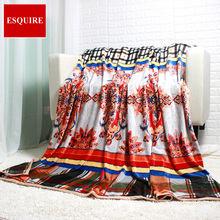 CORAL FLEECE flannel BLANKET BED SHEET WARM BLANKET checker flower  280G/SM 200X220CM