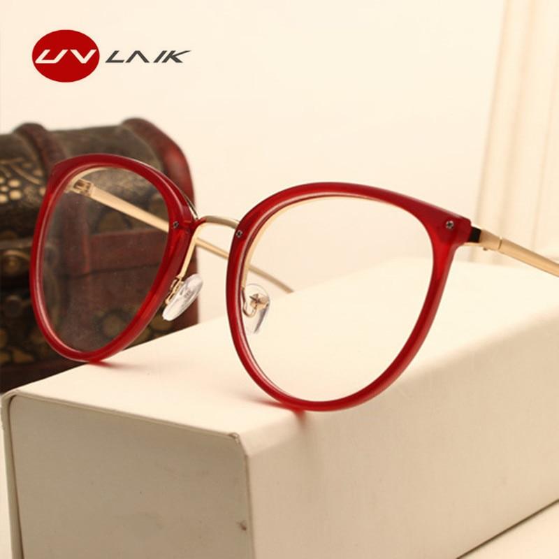 b637a60685 UVLAIK Optical Lens Glasses Women Myopia Eyeglasses Frames Trend Metal  Spectacles Clear ...
