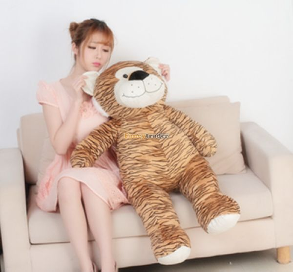 Fancytrader 39 / 100cm Super Cute Giant Soft Stuffed Cartoon Leopard Tiger Toy, Nice Gift For Kids, Free Shipping FT50196<br><br>Aliexpress