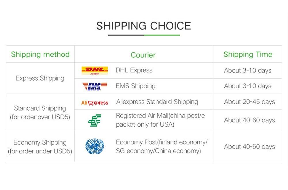 shipping choice