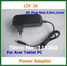 2pcs Tablet Battery Charger 12V 2A 3.0*1.1mm for Acer Iconia Tab A500 A501 A200 A210 A211 A100 A101 Power Supply Adapter(China)