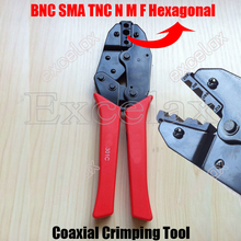 BNC SMA TNC N M F Connector Hexagonal Crimping Tool RG58 RG59 RG6 RG55/62 75-3 75-4 75-5 Coaxial Fiber Optic Cable Plier 301C