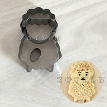 3 pcs/set Cute Sheep Stainless Steel Cookie Cutters Sandwich Pastry Fruit Cake Mold Kids Love Cartoon Animals Series JSM028(China)